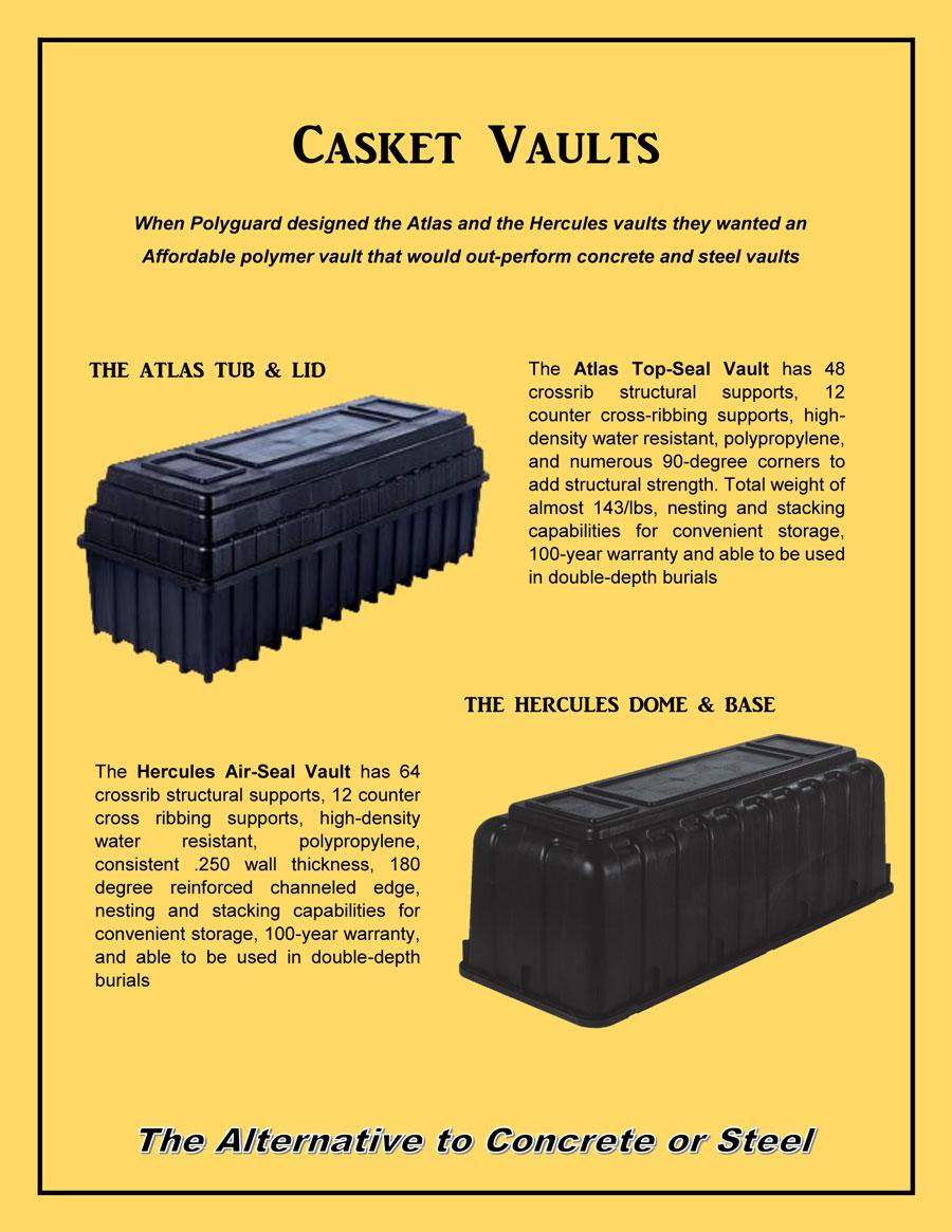 Poly Vaults Canada Casket vaults
